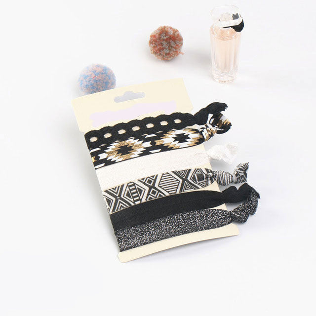 Black & White Hair Ties