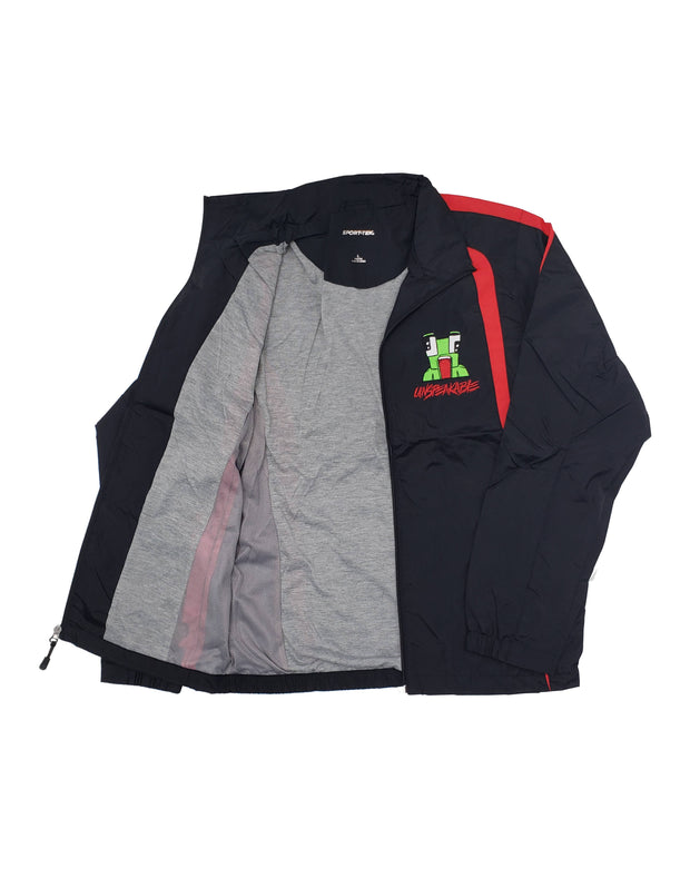 BLACK/RED WINDBREAKER