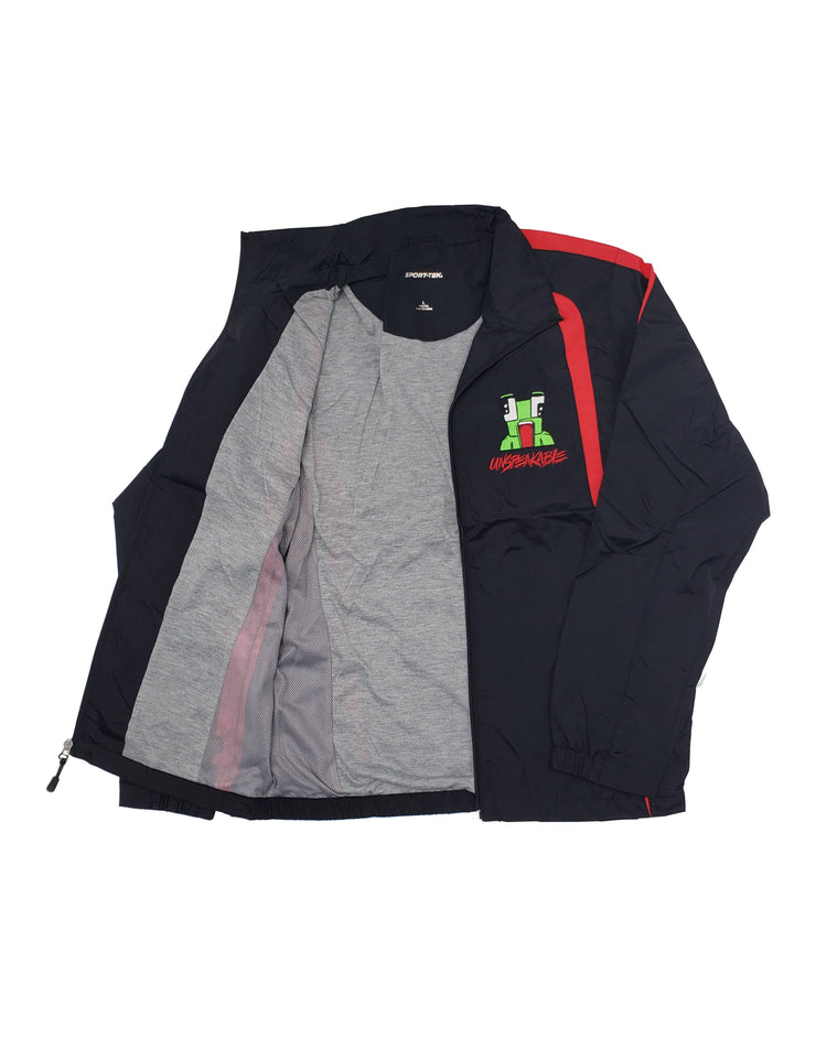 BLACK/RED WINDBREAKER - UnspeakableGaming