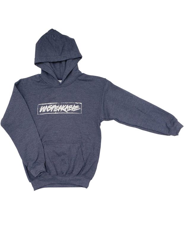 NAVY HEATHERED PULLOVER HOODIE - Unspeakable Merchandise