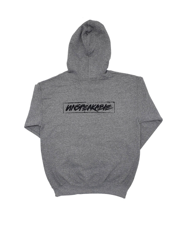 LIGHT HEATHERED GREY PULLOVER HOODIE - Unspeakable Merchandise