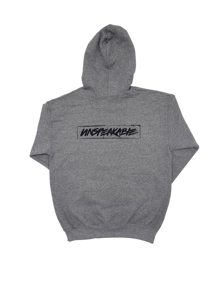 LIGHT HEATHERED GREY PULLOVER HOODIE