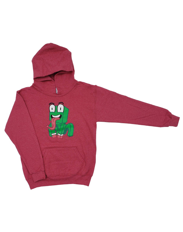 RED HEATHERED PULLOVER HOODIE - UnspeakableGaming