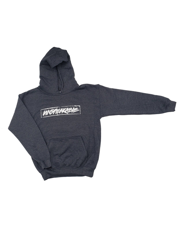 DARK HEATHERED GREY PULLOVER HOODIE - Unspeakable Merchandise