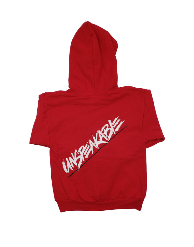 RED CROUCHING ICON ZIPPER HOODIE
