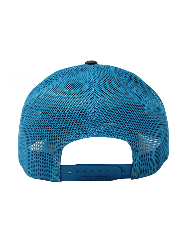 GREY/NEON BLUE HAT - Unspeakable Merchandise