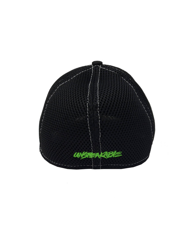 BLACK CROUCHING ICON HAT W/WHITE STITCHING - Unspeakable Merchandise