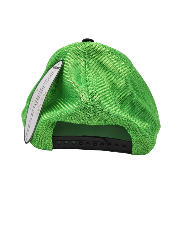 GREY/NEON GREEN WAVING ICON HAT - Unspeakable Merchandise