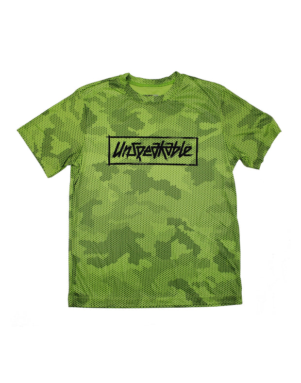 LIME CAMO HEX ATHLETIC T-SHIRT - UnspeakableGaming
