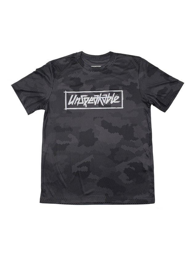 GREY CAMO HEX ATHLETIC T-SHIRT - Unspeakable Merchandise