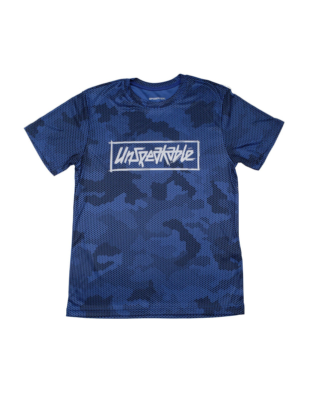 ROYAL CAMO HEX ATHLETIC T-SHIRT - UnspeakableGaming