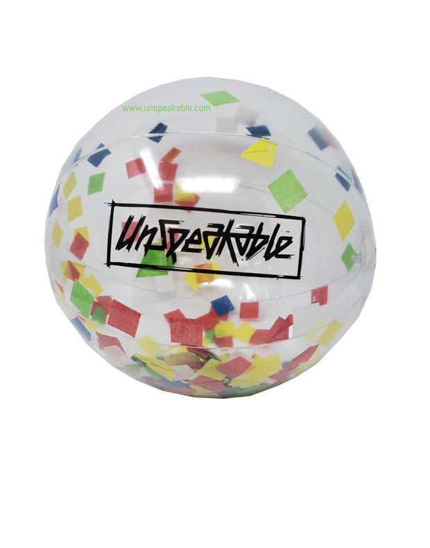 "16"" CONFETTI BEACH BALL - UnspeakableGaming"