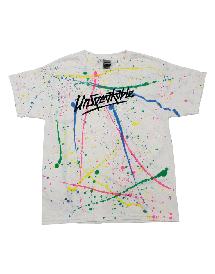 WHITE SPLATTER T-SHIRT - UnspeakableGaming