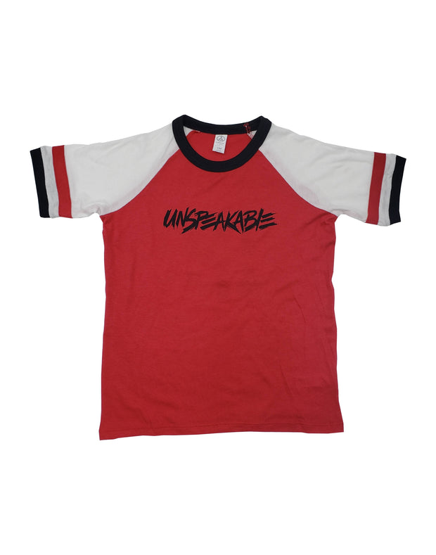 RED SIGNED JERSEY T-SHIRT - Unspeakable Merchandise