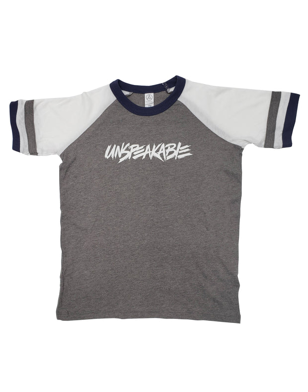 GREY SIGNED JERSEY T-SHIRT - Unspeakable Merchandise