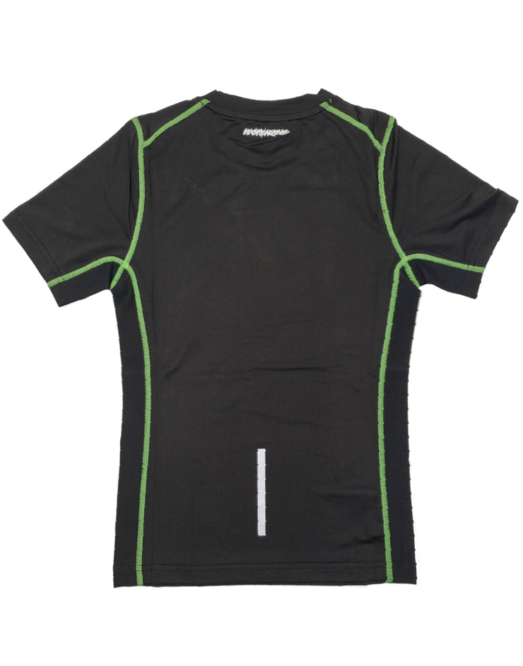 BLACK ATHLETIC SHIRT W/NEON GREEN STITCHING - Unspeakable Merchandise