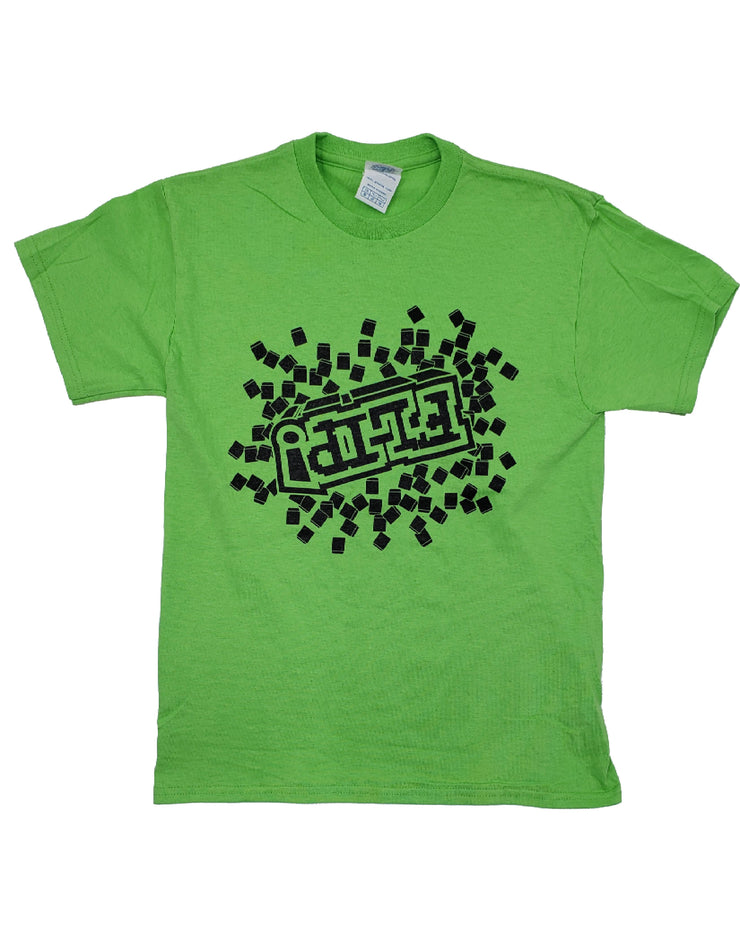 LIME GREEN PIXEL FLIP T-SHIRT - UnspeakableGaming