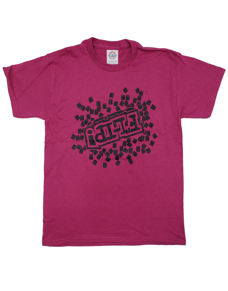 BERRY PIXEL FLIP T-SHIRT - Unspeakable Merchandise