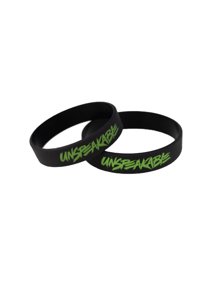 BLACK SILICONE WRISTBAND - Unspeakable Merchandise