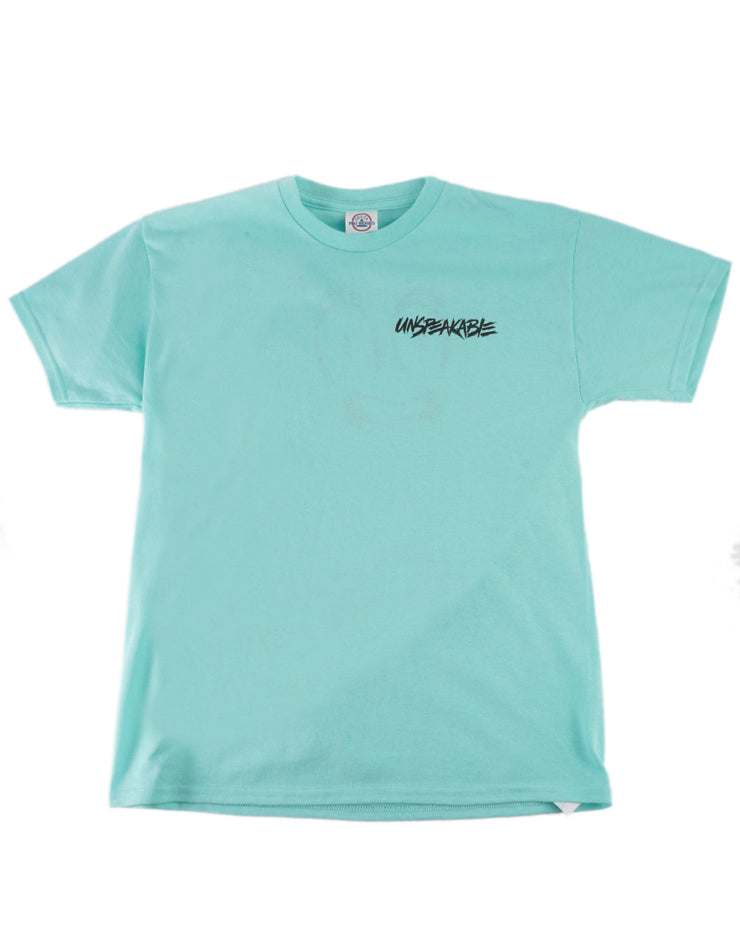 CELADON GREEN LARGE CROUCHING ICON T-SHIRT - Unspeakable Merchandise