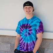BLUE/PURPLE SWIRL TIE DYE T-SHIRT - UnspeakableGaming