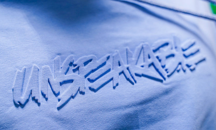 BLUE EMBOSSED PULLOVER HOODIE - Unspeakable Merchandise