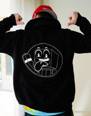 BLACK HOODIE W/WHITE ZIPPER - Unspeakable Merchandise