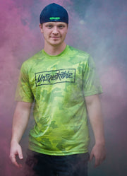 LIME CAMO HEX ATHLETIC T-SHIRT - Unspeakable Merchandise