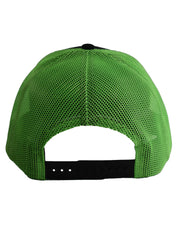 BLACK HAT W/NEON GREEN MESH & STITCHING - UnspeakableGaming