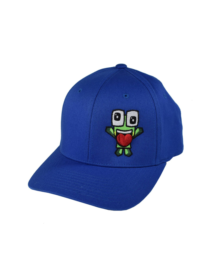 ROYAL BLUE 3D ZANY ICON HAT W/WHITE FONT - UnspeakableGaming