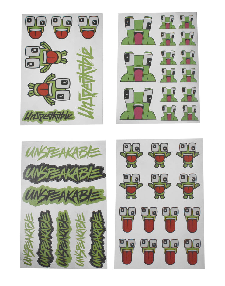 UNSPEAKABLY AWESOME STICKER SET - UnspeakableGaming
