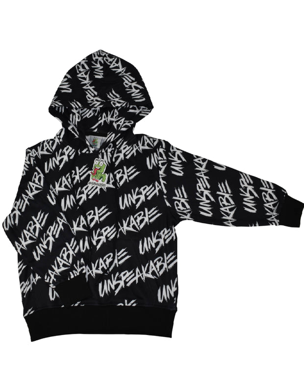 UNSPEAKABLE BLACK PULLOVER HOODIE - UnspeakableGaming