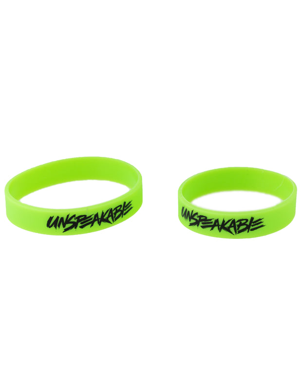 NEON GREEN SILICONE WRISTBAND - Unspeakable Merchandise