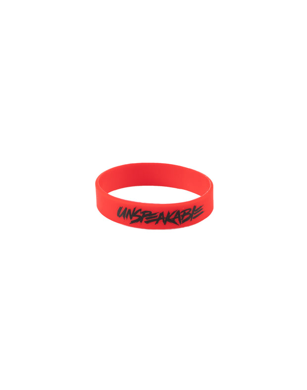 RED SILICONE WRISTBAND - Unspeakable Merchandise