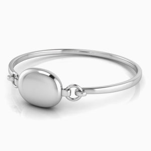Oval Engravable Sterling Baby Bracelet Bangle by Krysaliis