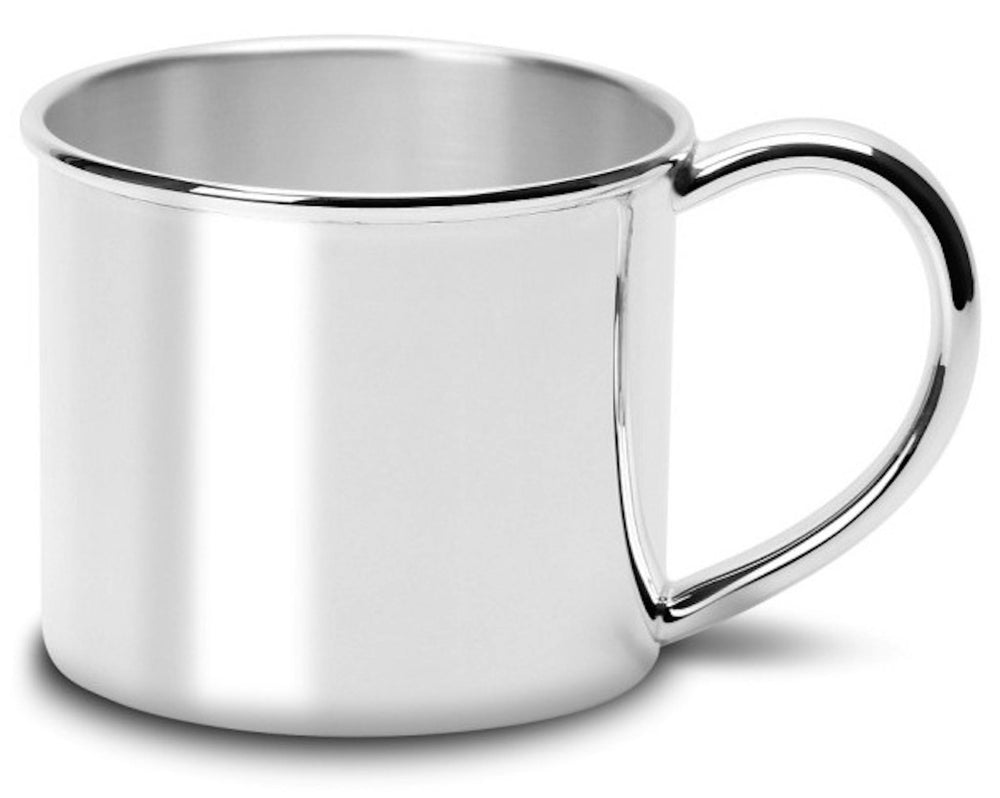 Wide Classic Silver Plated Baby Cup by Krysaliis - All Silver Gifts