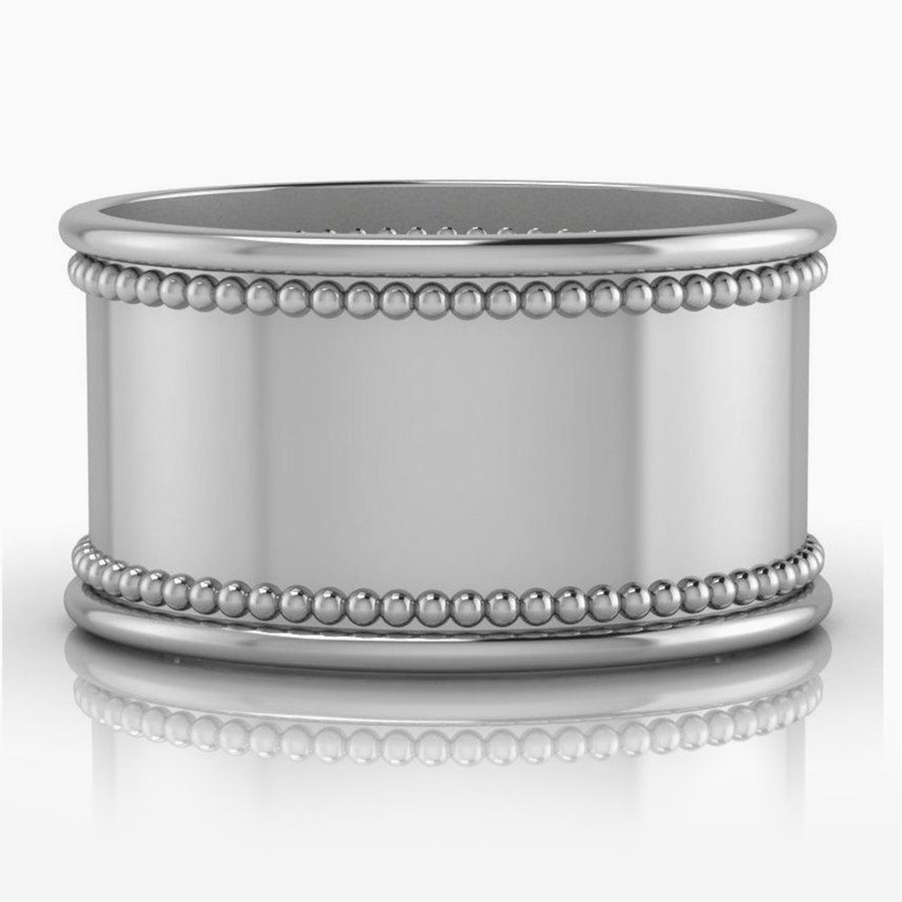 Krysaliis Beaded Silver Plate Oval Napkin Ring – Set of 4