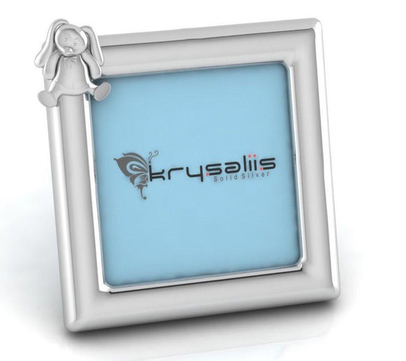 Krysaliis Rabbit Square Sterling Silver Picture Frame