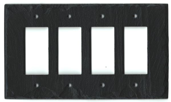 Black Slate Switch Plates