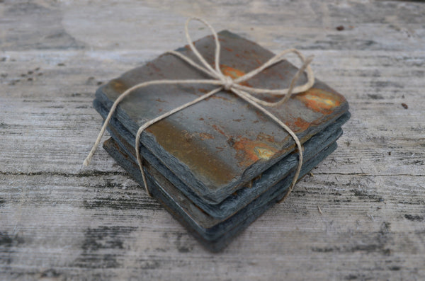Reclaimed Slate Coasters