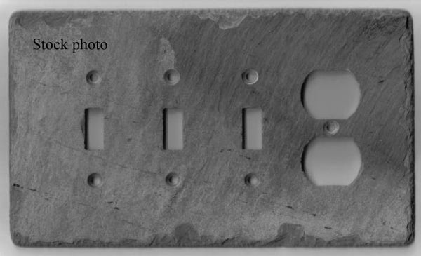 Three Toggle Switch/Duplex Outlet Cover