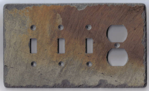 Triple Switch/Outlet Cover Switch Plate