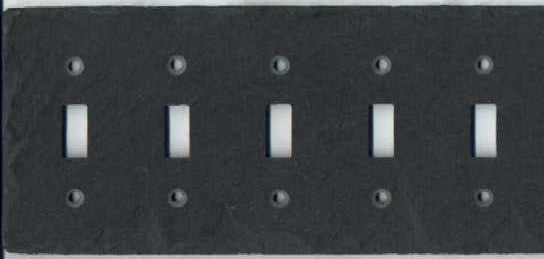 Five Gang Toggle Light Switch Cover