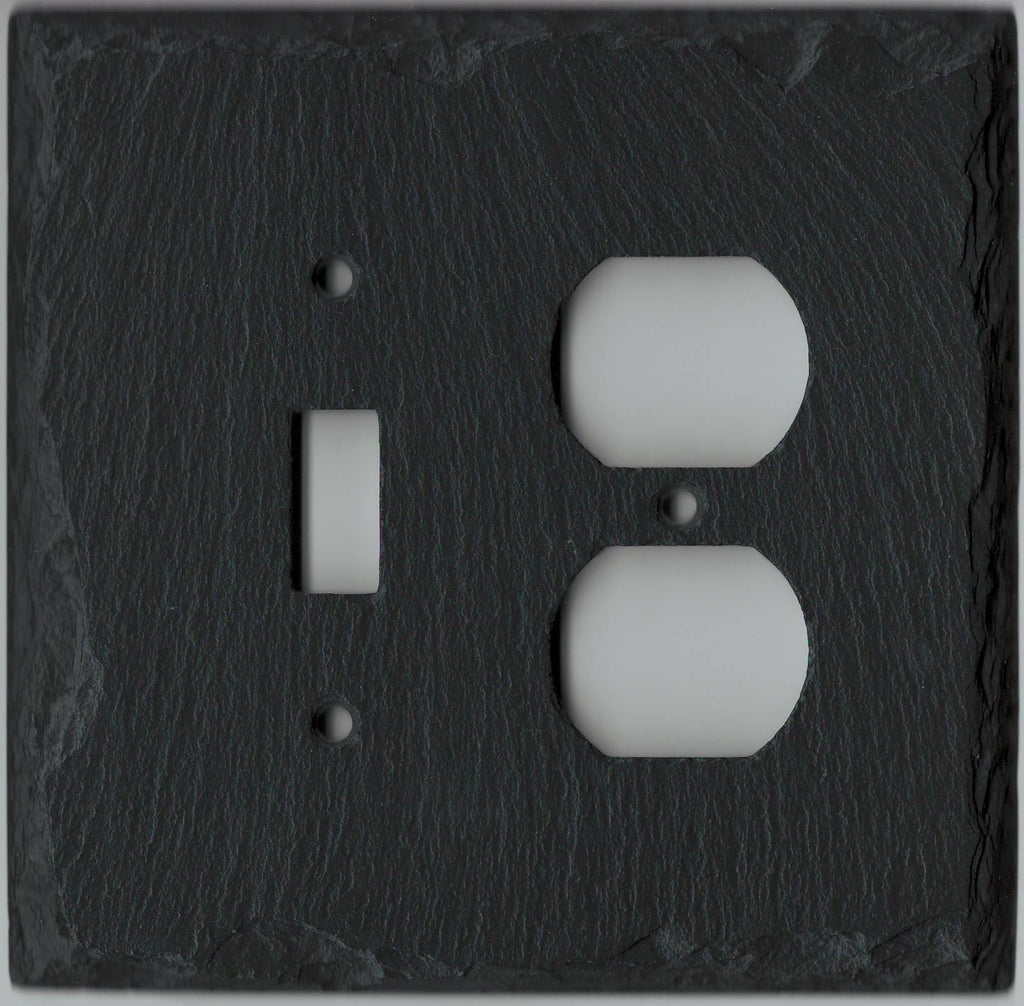Black Wall Socket Covers Captivating Vermont Slate Art Black Slate Switch Plates Switchplates Outlet Covers Decorating Design