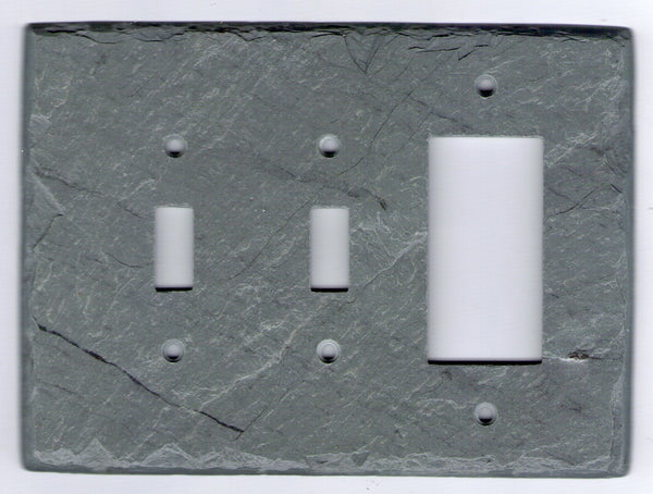 Slate Double Switch/GFI Plate