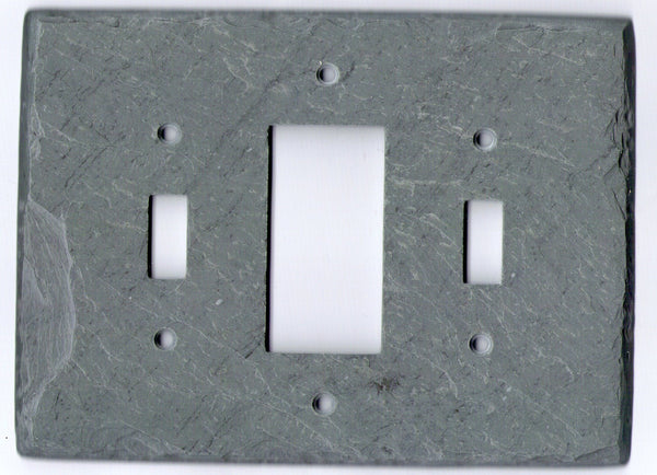 Toggle/GFI/Toggle Switch Plate