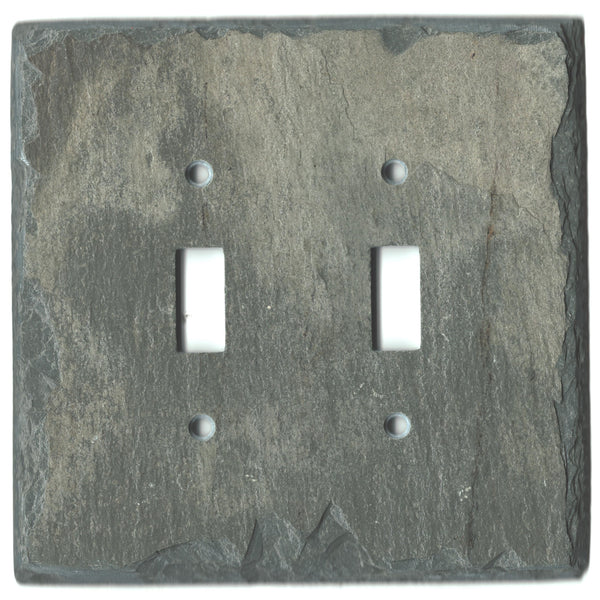 Double toggle slate light switch