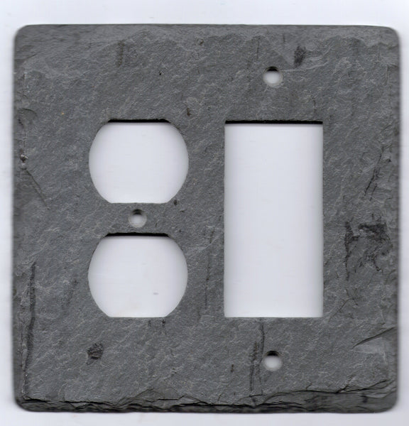 Single Outlet/Single GFI Slate Plate