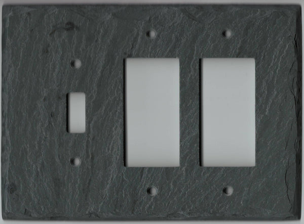 Single Switch/Double GFI Plate