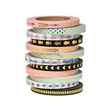skinny thin washi tape set